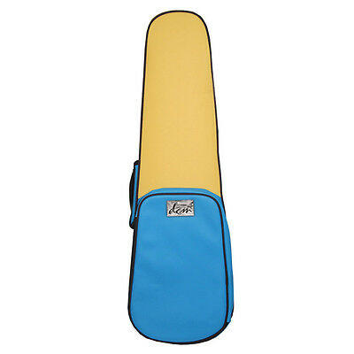 Funky Blue & Yellow Leather - Shaped Violin Case 3/4 Size