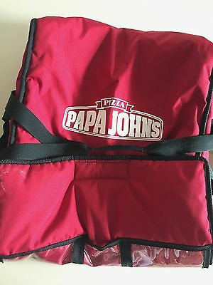 Papa Johns Insulated Pizza Delivery Bag Carrying Case - Large Size - w/ Handles