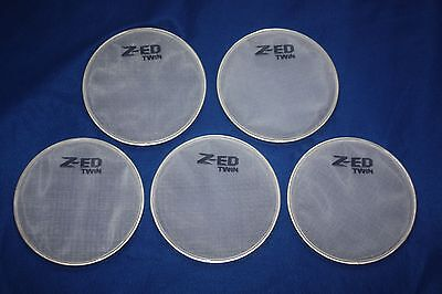 """8"""" White TWIN PLY Mesh Heads for converting Alexis DM5 PRO drum kit x 5 Pieces"""