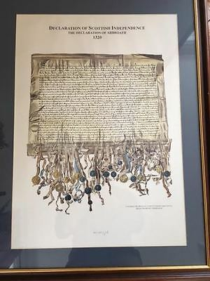 RARE Arbroath Declaration of Scottish Independence facsimile framed with COA