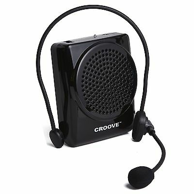 Croove Rechargeable Voice Amplifier with Waist/Neck Band & Belt Clip 20 Watts...