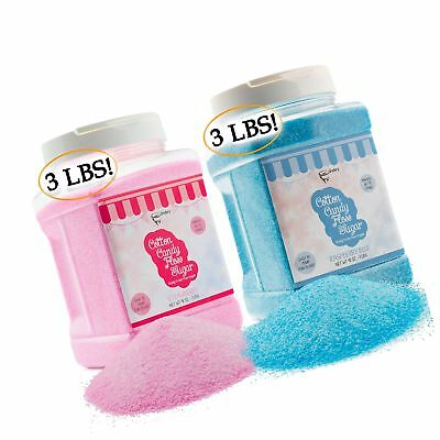 The Candery Cotton Candy Floss Sugar (2-Pack) | Raspberry Blue and Strawberry...