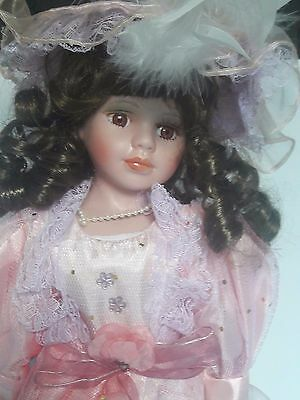 """Doll - Porcelain - 55cm (22"""") with stand"""