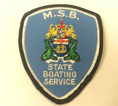 M.s.b State Boating Service Patch / Badge
