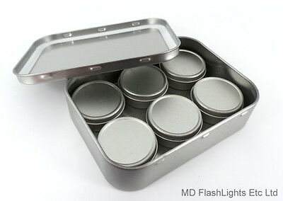 2oz SILVER TOBACCO STORAGE TIN SELECTION PACK TINDER KIT BUSHCRAFT SURVIVAL