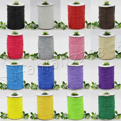 10/200Yards 1mm Waxed Cotton Cord Various Colours Lengths Available Rope Crafts