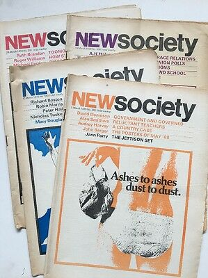 Four Copies Of New Society Magazine From March 1970 Politics Education
