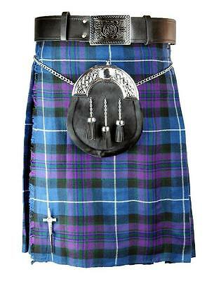 Traditional Scottish Tartan Kilt Pride Of Scottland 5 yard 13oz Custom Handmade