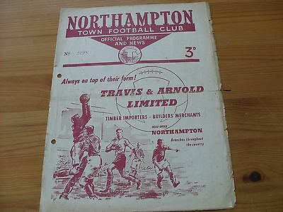 Northampton Res v Arsenal Res programme dated 14-12-1957   (R467)