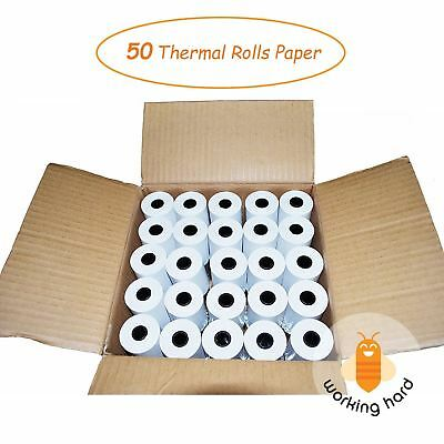 "2 1/4"" x 50' THERMAL PAPER Credit Card Machine Cash Register Receipt 50 ROLLS"