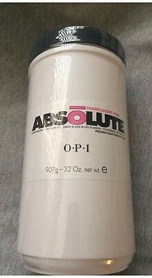 OPI Nail ABSOLUTE Acrylic Nail Powder Translucent Pink 32oz/907g New!