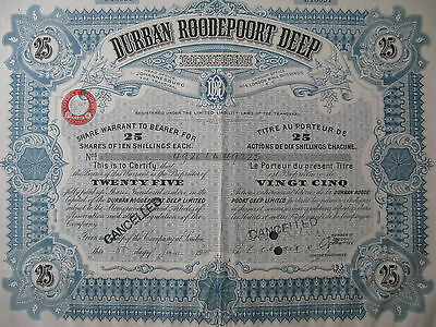 1938 Durban Roodepoort Deep Limited South Africa Johannesburg Transvaal London