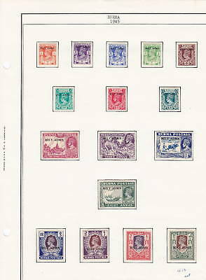 Burma, KGVI, 1937- 47 MH on pages , High Cat, Lot 4562