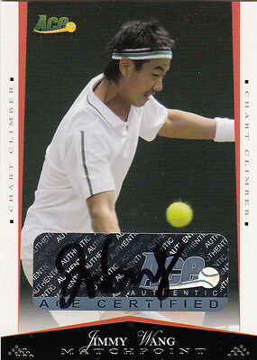 2008 Ace Authentic Matchpoint  Autograph  -  Jimmy Wang ed.25 Auto