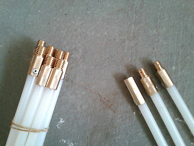 Flu-Flex Ultra Flex flexible chimney rods for liners with free brush 1m lengths