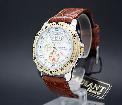 New old stock RADIANT DANCING HANDS cronograph alarm vintage quartz watch NOS
