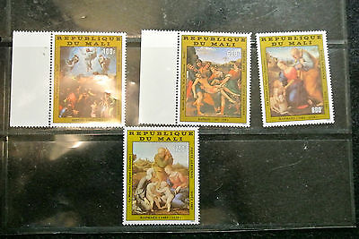 Mali Raphael Paintings Christmas 1983 Set Of 4