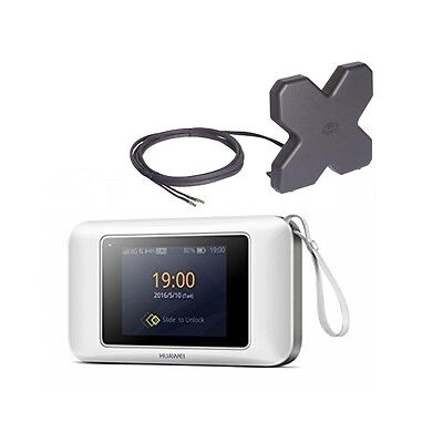 A SET of Huawei E5787 -  4G Mobile Router with antenna - White
