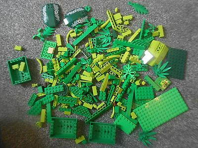 Lego - GREEN LIME TREES PLATES LEAVES