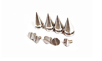 Screw Back Spike Silver Studs Cone Punk Goth Rock Leather Jacket Bag Shoes DIY
