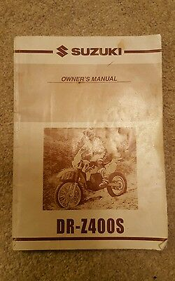 Suzuki Dr-z400s K4 Owners Manual