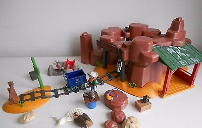 Playmobil 5246 Western McLarens Gold Mine, incomplete with extras! Working lamp!