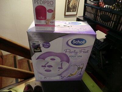 scholl party feet foot spa and pedipro deluxe both new in boxes
