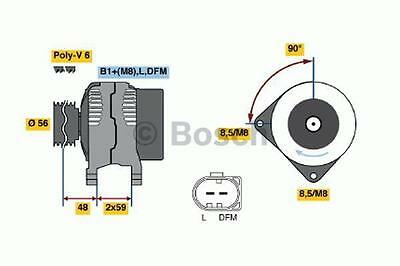AUDI SEAT VW  Alternator 1.8,3.2 98 to 06 0986041500 Bosch 028903028D 06A903026