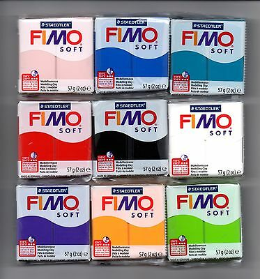 FIMO SOFT 56g POLYMER MODELLING - MOULDING OVEN BAKE CLAY CHOOSE FROM 30 COLOURS