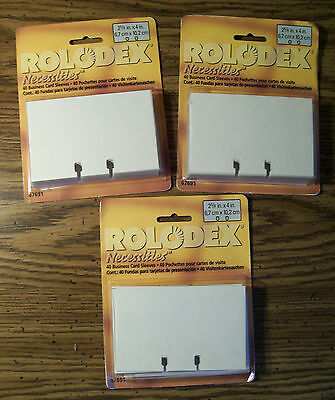 "NIP 40 ROLODEX Necessities BUSINESS CARD SLEEVES 2 5/8"" X 4"""