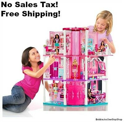 Barbie Dream House Doll 3 Story Dreamhouse Townhouse Furnished Girls Play Pink