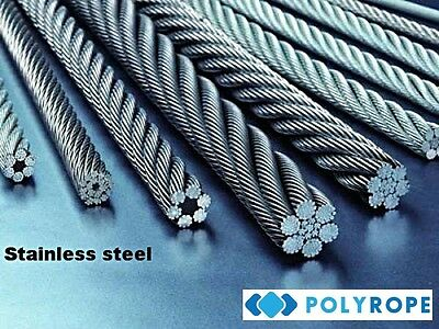 Stainless Steel Wire Rope Cable Metal (7x7)  /2/3/4/ mm Marine Grade