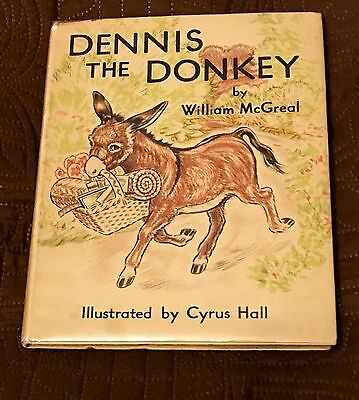 Dennis The Donkey ~ 1939 Uk Children's Book ~ Author Signed, Sealyham Dog, Etc.