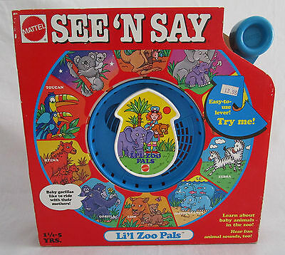 NOS Vintage 1991 Mattel See N Say LIL ZOO PALS Animals Talking Learning Toy