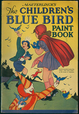 Uncolored THE CHILDREDN'S BLUE BIRD PAINT BOOK #955 Whitman 1940 (6415)