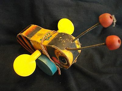 Vintage #325 BUZZY BEE wood pull toy FISHER PRICE