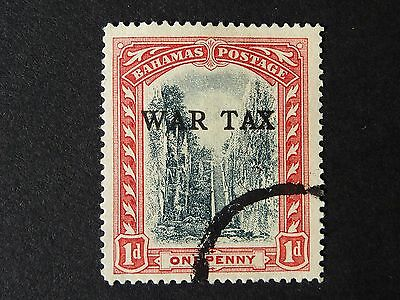 1235]  STAMPS OF BAHAMAS   1918 SG 93 - 1d  WAR TAX  F/USED
