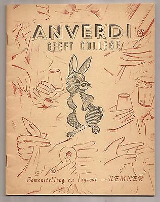 GEEFT COLLEGE by Tony Anverdi 1962 - Signed
