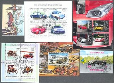 Cars & Vehicles 25 Miniature sheets all different collection