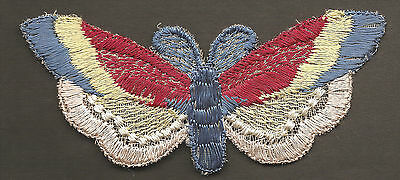 Vintage/antique early 1900s woven silk applique-use in crazy quilt - BUTTERFLY