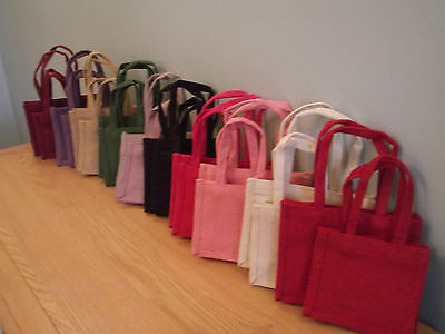 Jute Gift Bags ...2 Sizes .....small /  Medium  Available In 10 Colour Choices