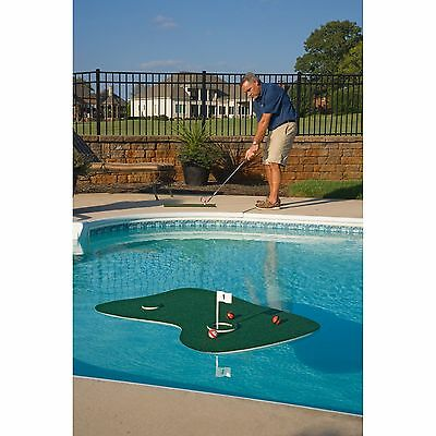 Floating Golf Green for Swimming Pool Backyard Putting Game Practice Tee Mat NEW