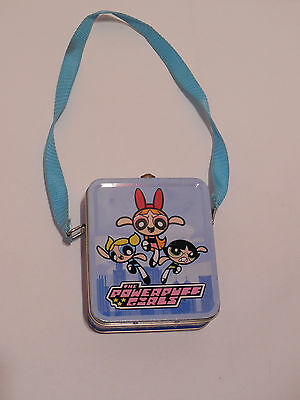 Vintage Powerpuff Girls Best Friends Forever Metal Tin With Shoulder Strap