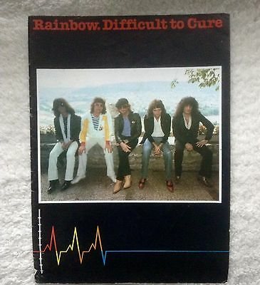 Rainbow Difficult To Cure Tour Programme, Good Condition, 1981