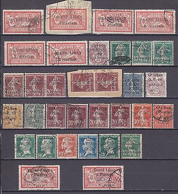 Lebanon Liban French Occupation Old Used Stamps Collection