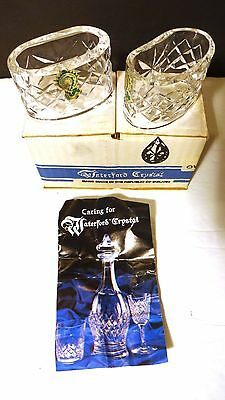 """*VINTAGE* Waterford Crystal ALANA (1952-) Set of 2 Oval Napkin Rings 2 5/8"""" BOX"""