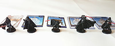 All 5 Darth Vader miniatures Painted (Star Wars Imperial Assault) *RARE*