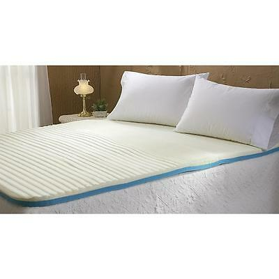 Memory Foam Mattress Pad Topper - Full Bed Size Contour 3 Layers of Foam Support