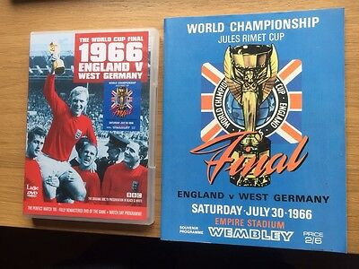 1966 World Cup Final Programme Reprint and DVD England v Germany Jules Rimet