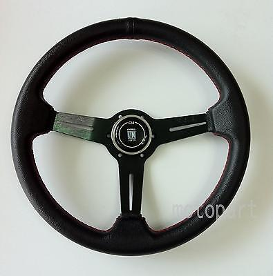 Nardi Sport Rally Deep Corn Perforated Leather Steering Wheel Red Stitch 350Mm